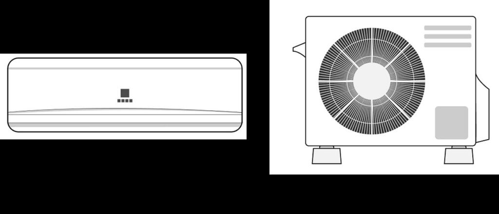 エアコンの室内機と室外機